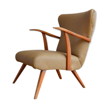 fauteuil bridge marron. Black Bedroom Furniture Sets. Home Design Ideas