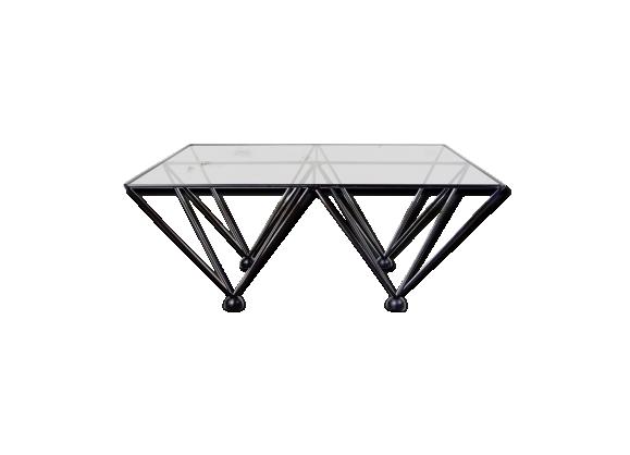 Table basse design verre et métal