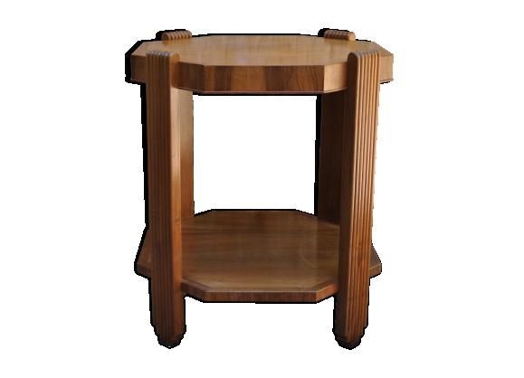 table hexagonale bois mat riau marron bon tat art d co cbcfa843f1e837fab6569314bdff7a1a. Black Bedroom Furniture Sets. Home Design Ideas