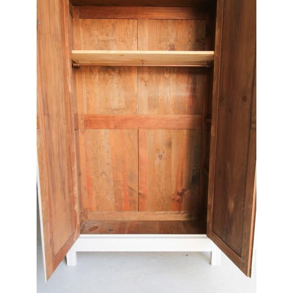 grande armoire parisienne bois mat riau gris bon tat vintage. Black Bedroom Furniture Sets. Home Design Ideas
