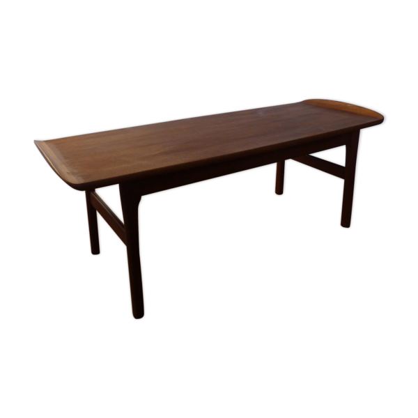 Table Basse Scandinave En Teck Ann Es 60 Teck Marron Bon Tat Scandinave
