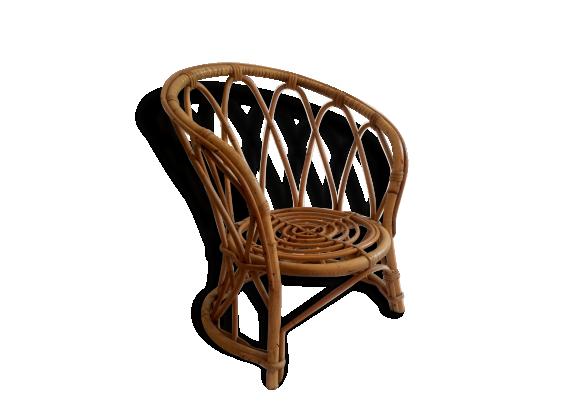 fauteuil en rotin pour enfant dition vintage des ann es 60 rotin et osier bois couleur. Black Bedroom Furniture Sets. Home Design Ideas