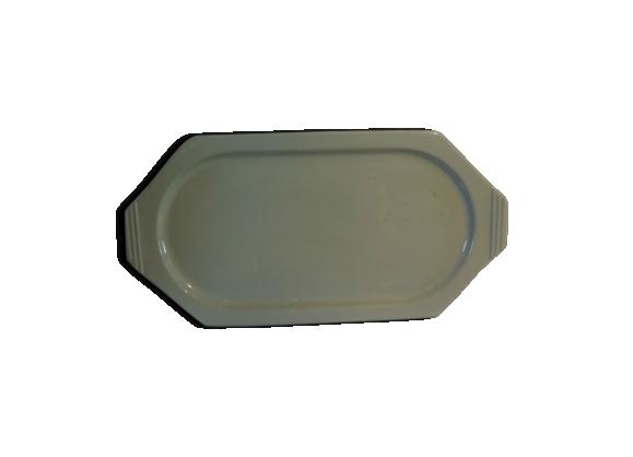 Grand plat forme géométrique de Boch couleur bleu turquoise