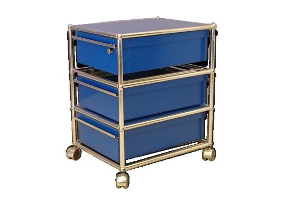 Caisson meuble de bureau usm sur roulettes fritz haller for Meuble bureau 64
