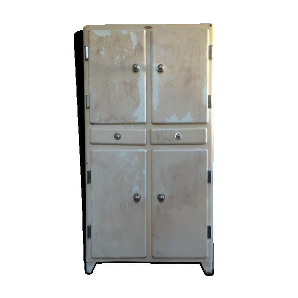 Armoire de cuisine vintage en m tal ann es 50 m tal for Armoire de cuisine antique