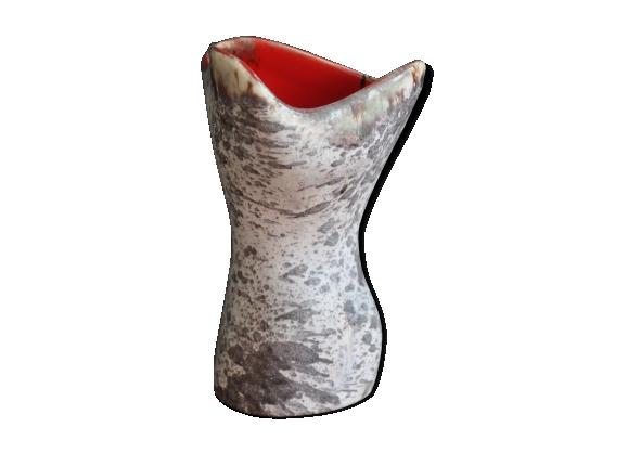 Vase céramique motif bouleau