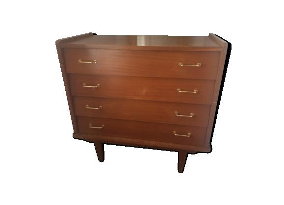commode ann es 50 bois mat riau bois couleur dans son jus vintage. Black Bedroom Furniture Sets. Home Design Ideas