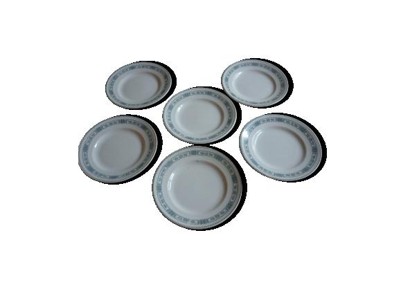 Set de 6 assiettes plate moulin des loups modele pasteur