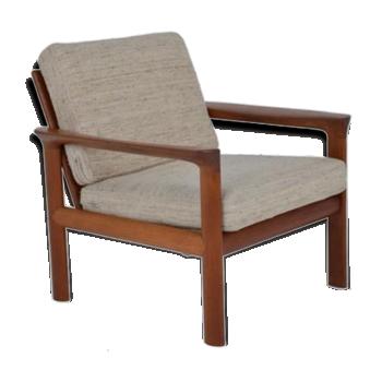Fauteuil rocking chair de couleur beige vintage d 39 occasion - Fauteuil scandinave occasion ...