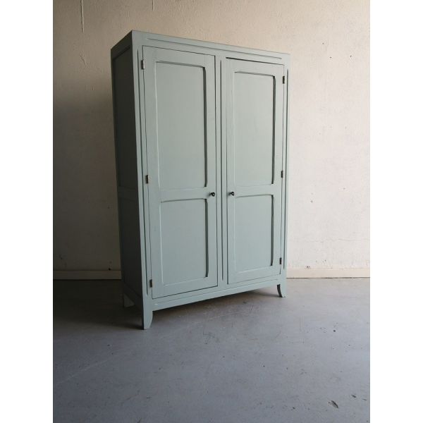 armoire parisienne bois mat riau bleu bon tat vintage bafbea5209f13096b4129d037cf8a651. Black Bedroom Furniture Sets. Home Design Ideas