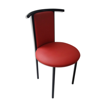 Chaise de couleur rouge vintage d 39 occasion for Chaise annee 80