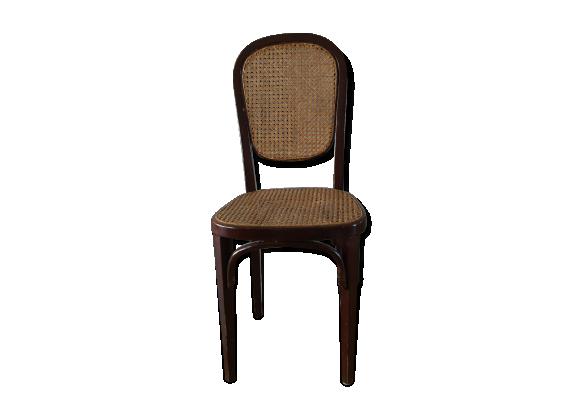 Lot de 6 chaises style bistrot bois mat riau marron - Chaise de cuisine style bistrot ...