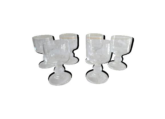 lot de 6 verres trocadero en cristal d 39 arques verre et cristal transparent bon tat. Black Bedroom Furniture Sets. Home Design Ideas
