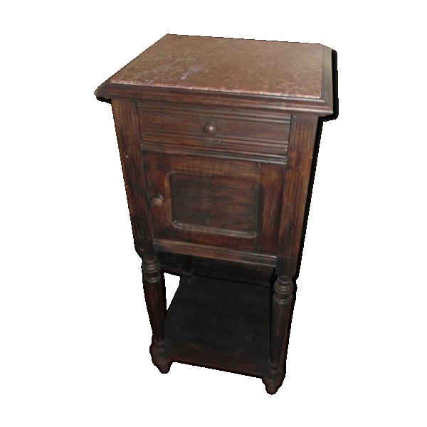 Chevet table de nuit bois mat riau marron bon tat - Table de chevet classique ...
