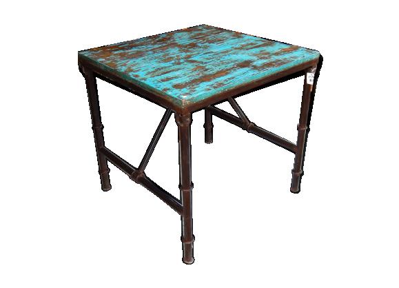 table basse pliable en teck. Black Bedroom Furniture Sets. Home Design Ideas