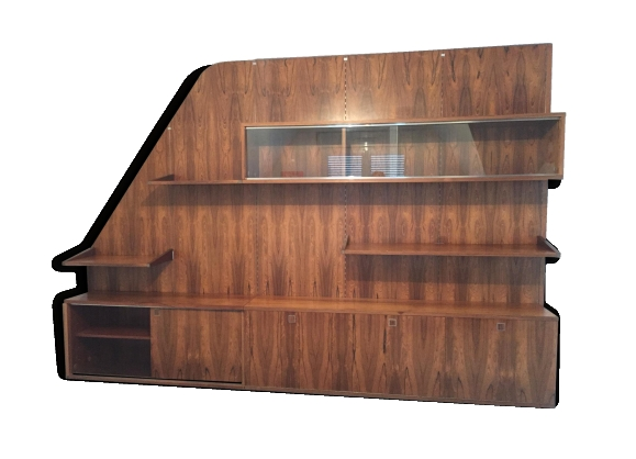 biblioth que palissandre achat vente de biblioth que pas cher. Black Bedroom Furniture Sets. Home Design Ideas