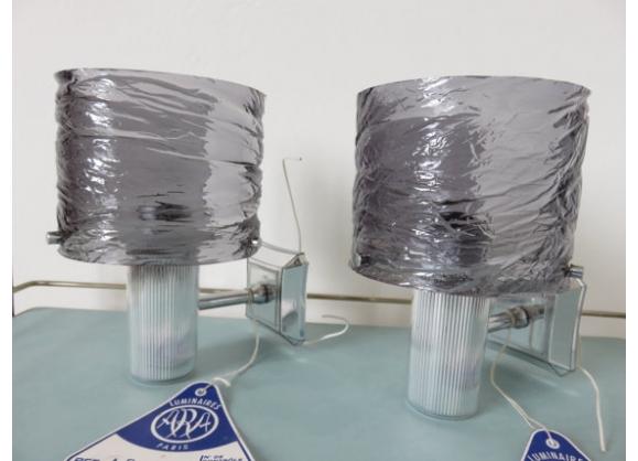 Paire de lampes appliques neuves marque ' ARA ' années 50 60