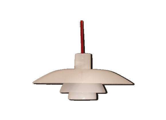 suspension vintage scandinave ph4 3 louis poulsen m tal blanc bon tat scandinave. Black Bedroom Furniture Sets. Home Design Ideas