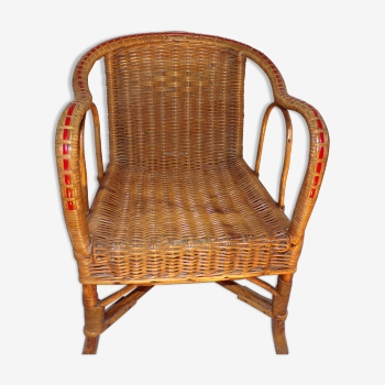 Fauteuil pour enfant vintage d 39 occasion rocking chair for Chaise en rotin enfant