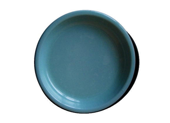 Plateau en tôle émaillée bleu
