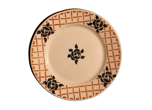 Assiette plate Badonviller modèle Roscoff