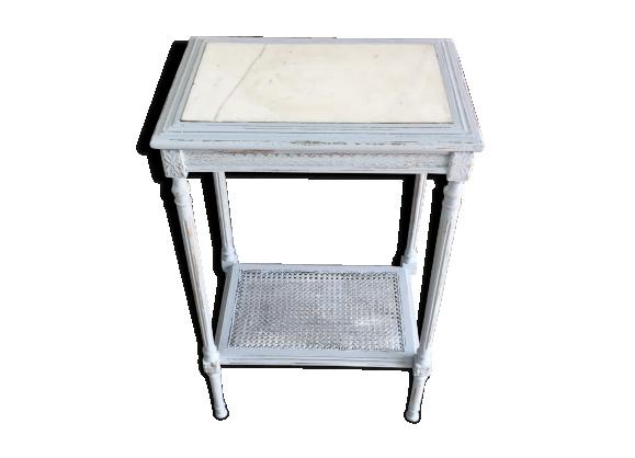 Table dessus marbre blanc style Louis XVI