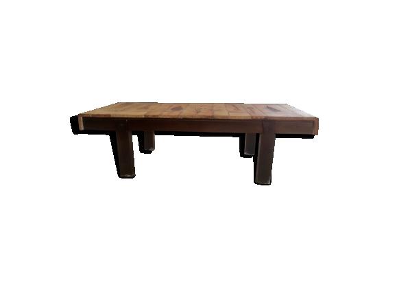 Table basse Capron modèle ' Herbier'