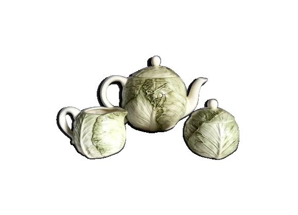 Service à thé feuille de choux