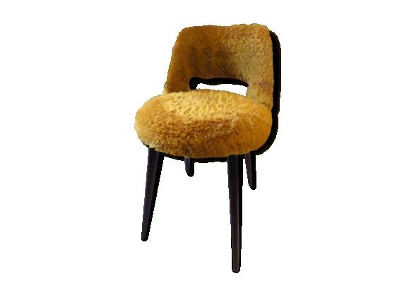 chaises fourrure achat vente de chaises pas cher. Black Bedroom Furniture Sets. Home Design Ideas