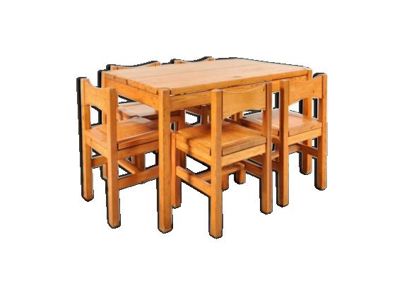 Set de salle manger en ch ne par lmari tapiovaara pour for Set de salle a manger