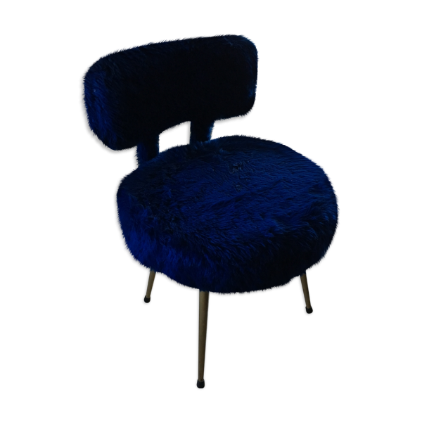 chaise pelfran moumoute bleu laiton bleu bon tat vintage 715e6ab12dbd3b94b77ecb4ae9a660fb. Black Bedroom Furniture Sets. Home Design Ideas