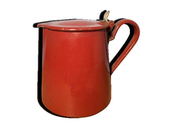 Cafetière émaillée rouge basque