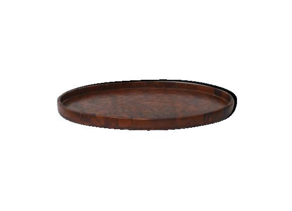 plateau ovale bois mat riau bois couleur bon tat thnique. Black Bedroom Furniture Sets. Home Design Ideas