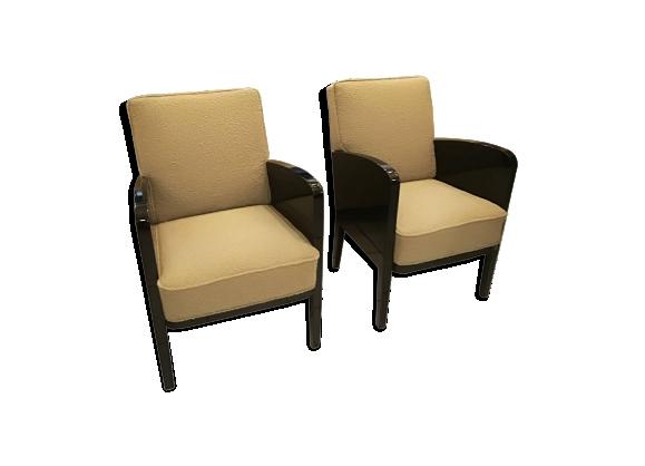 Paire de fauteuils Damon et Berteaux art déco, français, vers 1930
