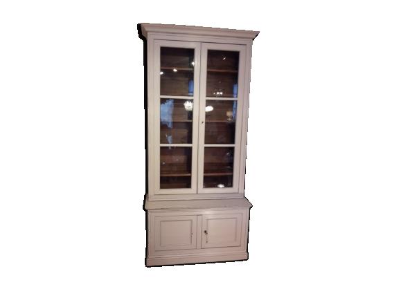 Grande vitrine- bibliothèque peinte - d'époque Louis Philippe XIXème