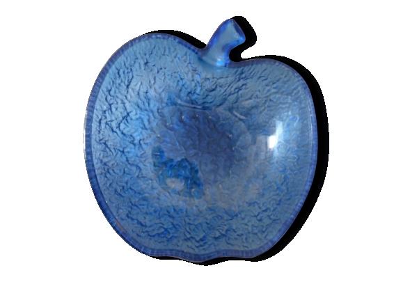 Saladier pomme bleu vintage