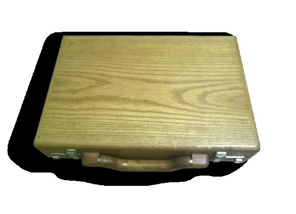 Valise baguette vintage en bois