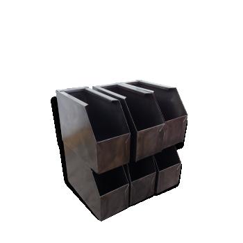 coffre malle caisse de rangement style industriel d 39 occasion. Black Bedroom Furniture Sets. Home Design Ideas