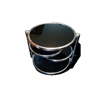 Table basse Design 3 plateaux Verre noir