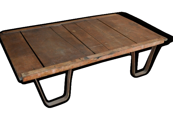 Table basse fer for Table salon bois et fer