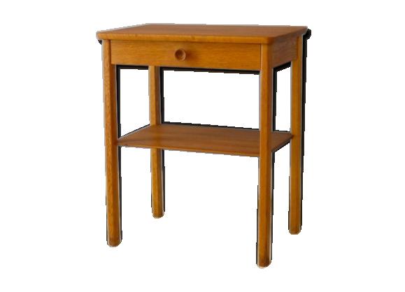 chevet ou petite table d 39 appoint vintage 1960 teck bois couleur bon tat scandinave. Black Bedroom Furniture Sets. Home Design Ideas