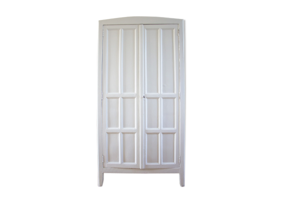 armoire parisienne blanche garde manger bois mat riau. Black Bedroom Furniture Sets. Home Design Ideas