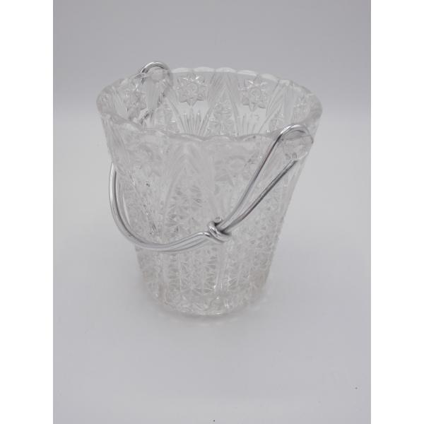 Seau glace verre et cristal transparent bon tat classique - Console verre transparent ...