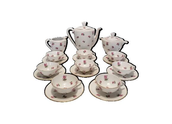 Service à thé en porcelaine de limoges, Georges Boyer, années 50
