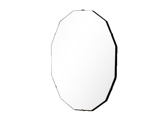 Miroir biseaut diamant art d co bois mat riau for Diamant coupe miroir