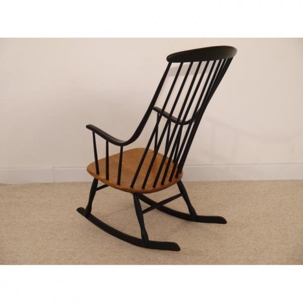 rocking chair design scandinave lena larsson bois mat riau bois couleur bon tat. Black Bedroom Furniture Sets. Home Design Ideas