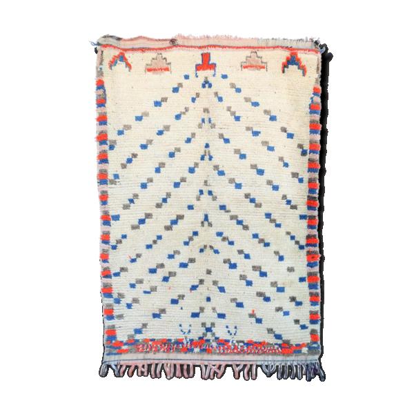 Azilal Vintage Morocan Tapis Berber Mid Century Modern
