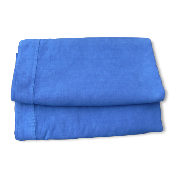 Drap ancien teinté bleu